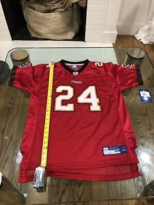 Cadillac Williams #24 Tampa Bay Buccaneers Reebok RED NFL VINTAGE Jersey Size XL