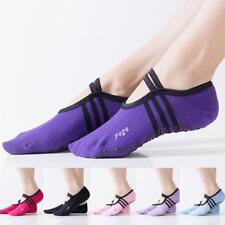 Womens Ballet Grip Yoga Sock Massage Ankle Pilates Antislip Gym Sock