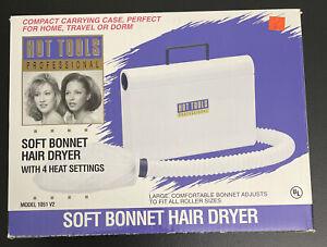 Vintage Hot Tools Professional Soft Bonnet Hair Dryer Model 1051 Tested Open Box