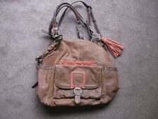 Large faux leather handbag with charms