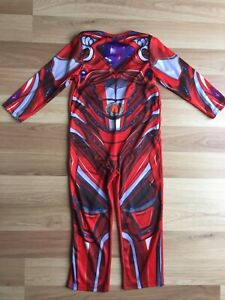POWER RANGERS OUTFIT COSTUME DRESS UP RED AGE 5/6yrs GREAT CONDITION