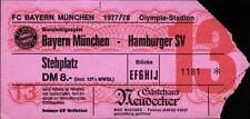 Ticket BL 77/78 FC Bayern München - Hamburger SV