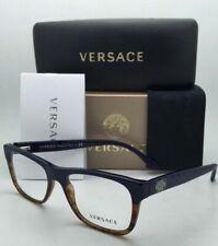 New VERSACE Rx-able Eyeglasses 3199 5118 53-17 Dark Blue Gradient Havana Frames