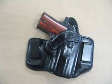 Browning 1911 22 / 380 Leather 2 Clip IWB Carry Concealment Holster CCW - BLK RH