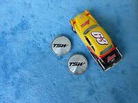 2 Of Sets, TSW Wheels Silver Custom Wheel Center Cap # C-D31