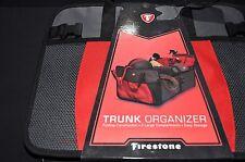 FIRESTONE Trunk Organizer, Folding Caddy Storage Bin for Car, Truck; SUV