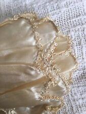"""Exquisite Antique 1900 Scalloped Silk Trim Fragment With Picot Edge """"Rare"""""""