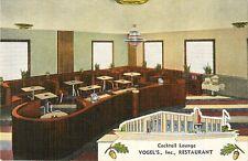 c1950 Vogel's Inc Restaurant, Whiting, Indiana Postcard
