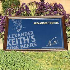 "Alexander Keith's Beer Bar Mirror Pub Huge Big Sign Man Cave ""New"" 51x35"