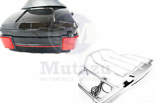 Mutazu King Tour pak fits Harley Touring Incl Air Wing LED Top Rack Rail FLH FLT