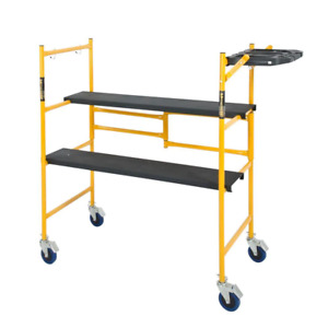 MetalTech Rolling Scaffold 500 lb. Load Capacity Weather Resistant Mason Frame