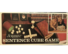 Vintage 1971 Scrabble Sentence Cube Family Game  Selchow and Righter - Complete