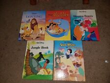 Five Disney Classics books Snow White Jungle Book Sleeping Beauty Aladdin Lion K