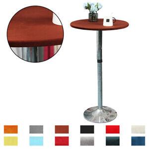 Round 60~150cm Stretch Velvet Tablecloth Elastic Edge Table Cover Home Decor J