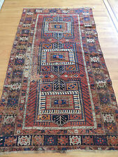 "Turkish Kazak  5x7, 5x8 ""Ralph Lauren style"" Oriental Area Rug Rust, Antique"