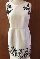 J.Crew Women's Size 12P Black White 100% Cotton Summer Shift Dress