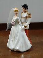 Disney Porcelain Cinderella and Prince Charming Wedding Figures
