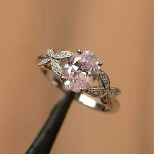 oval cut cubic zirconia cz engagement ring white gold ring
