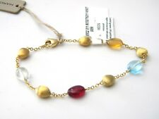 Marco Bicego Confetti Gemme 18k Gold Hand Engraved Bracelet Mixed Gemstones NWT