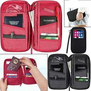 Travel Wallet Passport Holder RFID Organiser Pouch for Cards Documents IDS Money