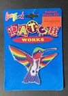 Vintage 1990s Lisa Frank Iron On Patch Works Hummingbird Sealed New In Package