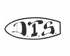Dogtown DTS Skateboard Sticker 6in D.T.S black/white