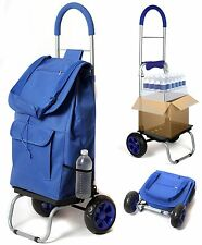 Utility Dolly Hand Truck Trolley Wagon Collapsible Rolling Shopping Luggage Cart