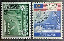 MALAYAN FEDERATION MALAYSIA 1958 SG 8 - 9 MLH OG
