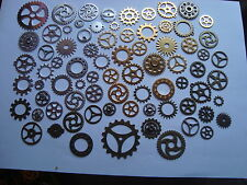 100 STEAMPUNK  COGS AND GEARS MADE FROM METAL MIXED SIZES FROM 40mm 25mm etc etc