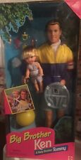 💕Barbie Big Brother Ken And Baby Brother Tommy 2 Doll Set 17055 Mattel Rare💕