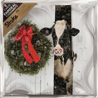 Pack of 8 Cow In A Barn Stroke Association Fairdeal Charity Christmas Cards