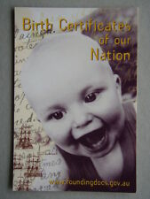 Birth Certificates of our Nation Foundingdocs Avant Card #4550 Postcard (P190)