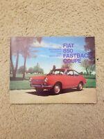 FIAT 850 Fastback Coupe Fold Out Dealer Sales Brochure Literature