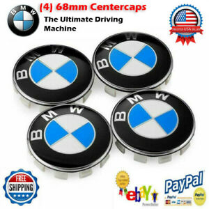 Replacement BMW Emblem Wheel Center Cap - Clip-On - 68mm for BMW 36136783536