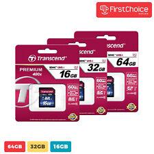 Transcend 16GB 32GB 64GB Premium 400x SDHC UHS-I Memory Card