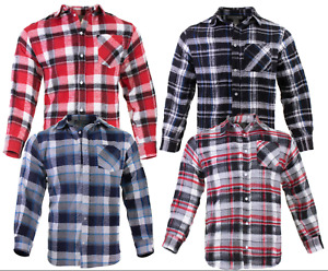 Flannel Plaid Shirt Mens Western Button Pockets 5 Colors Long Sleeve Top Quality