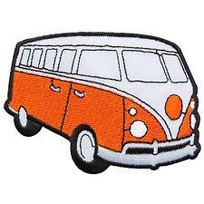 Orange VW Van Bus Volkswagen Car Camper Peace 70's Hippie Iron on Patches #1696