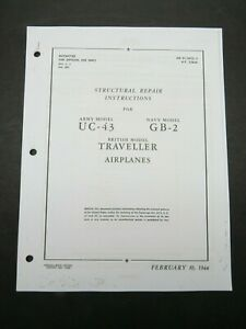 1944 Beech AAF UC-43 , USN GB-2  Staggerwing Aircraft Structural Repair Manual