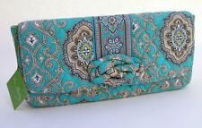 Vera Bradley Purse Bag Knot Just a Clutch Totally Turq Paisley Turquoise Black