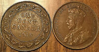 1918 CANADA LARGE 1 CENT COIN PENNY VG-F BUY 1 OR MORE ITS FREE SHIPPING!
