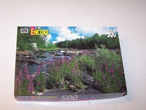 Pre owned RoseArt 500 piece jigsaw puzzle 10 3/4 X 18 Wisconsin River made USA