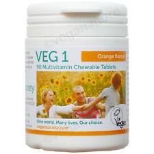 2 X 90 Kautabletten The vegan Society Veg 1 Multivitamin orange