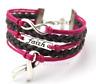 Cancer Awareness Bracelet, Pink Ribbon Bracelet, Hope & Faith Bracelet
