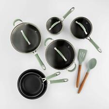 Cravings by Chrissy Teigen 12pc Aluminum Cookware Set Green