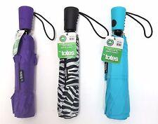 Wholesale lot of 24 TOTES mini/compact umbrellas-asst prints-closeout-one box