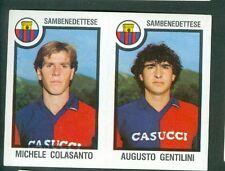 Fig. Calciatori Panini 1982-83! N.549! Colasanto/Gentilini! Sambenedettese Nuova