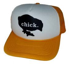 Chick Snapback Mesh Trucker Hat Cap Girl Lady Woman Yellow