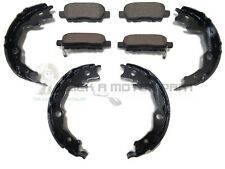 REAR BRAKE PADS SET & HANDBRAKE SHOES SET FOR NISSAN QASHQAI (J10) 2007-2013