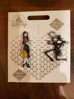 Disney JACK SKELLINGTON and SALLY Couples Pin Set Nightmare Before Christmas New
