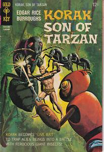 Edgar Rice Burroughs Korak, Son of Tarzan #21, Gold Key, February 1968 - 12¢